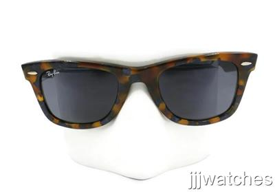 New Ray Ban Wayfarer Tortoise Sunglasses Blue/Gray Classic