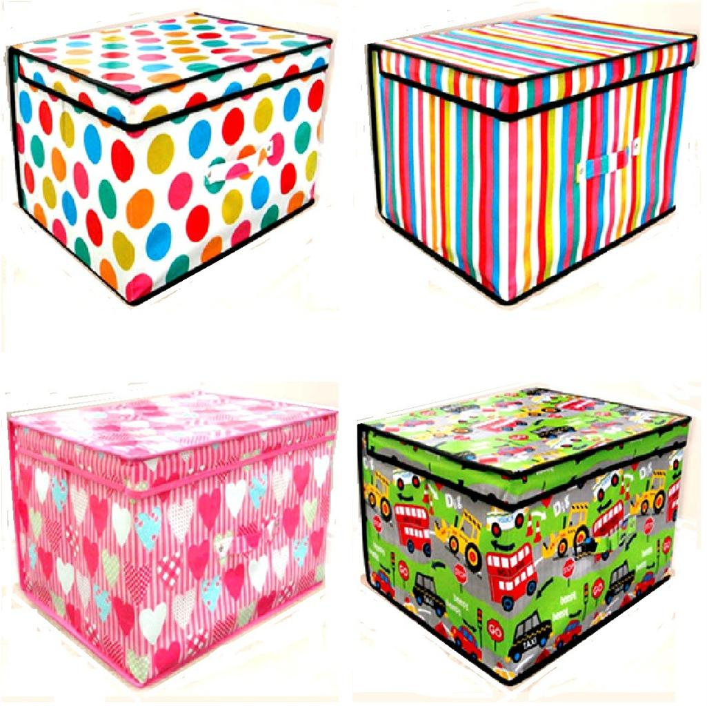Childrens Jumbo Bedroom Room Tidy Toy Storage Chest Box Trunk: NEW JUMBO LARGE TOY STORAGE BOX ROOM TIDY WITH LID