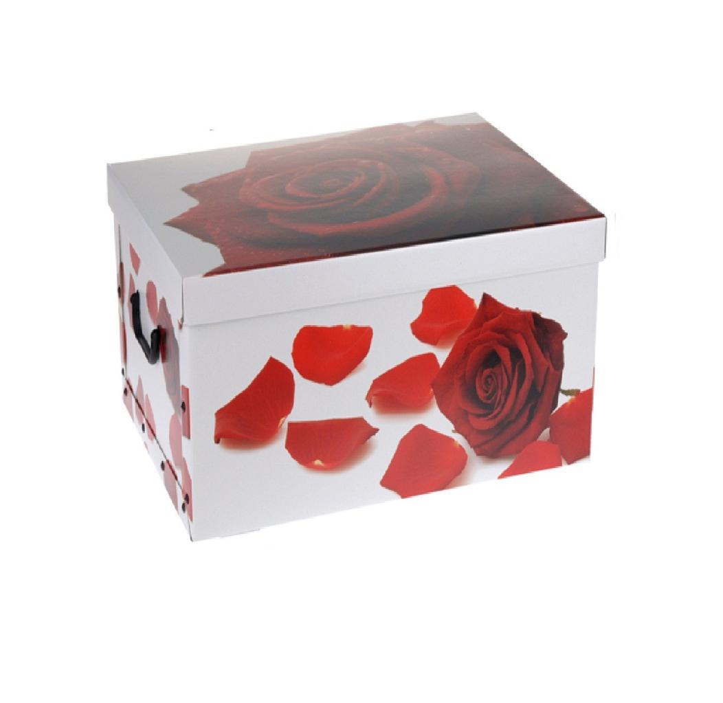 Kids Room Bedroom Storage Chest Unit Box With Lid For Sale: ITALIAN DECORATIVE CARDBOARD STORAGE BOX BEDROOM UNDERBED