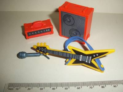 playmobil rock electric guitar amplifier set with microphone new ebay. Black Bedroom Furniture Sets. Home Design Ideas