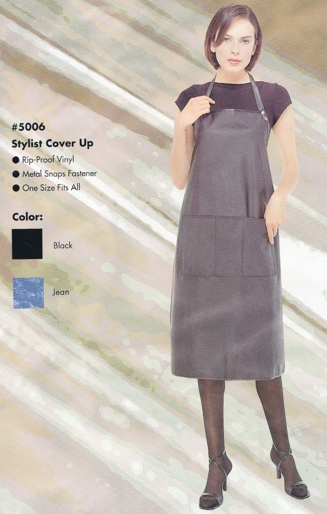 Professional Hair Stylist Cover Up Jean Color Apron Beauty