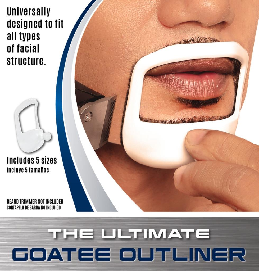 Beardoptima goatee outliner perfect beard shaper facial for Goatee trimming template