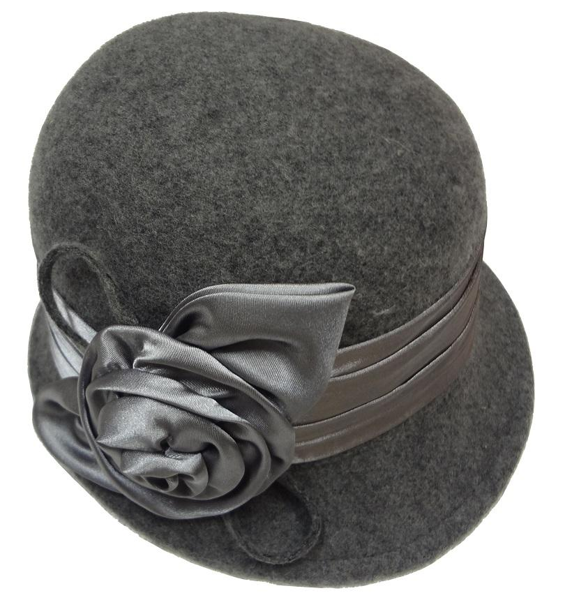 Women's 100% Wool Felt Soft & Crush-able Bucket Bell Derby ...