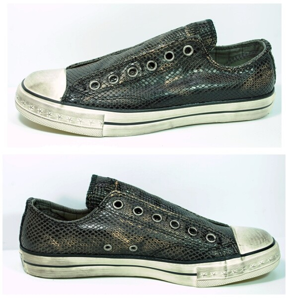 692ee569f3f976 CONVERSE BY JOHN VARVATOS CHUCK TAYLOR BLACK TEXTURED LEATHER SNEAKERS