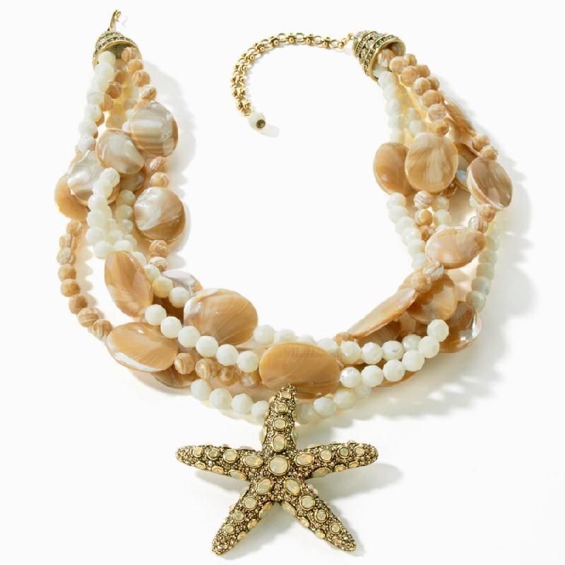 "Torsade Necklace: Heidi Daus ""Sea-ing Stars"" Mother-of-Pearl Torsade"