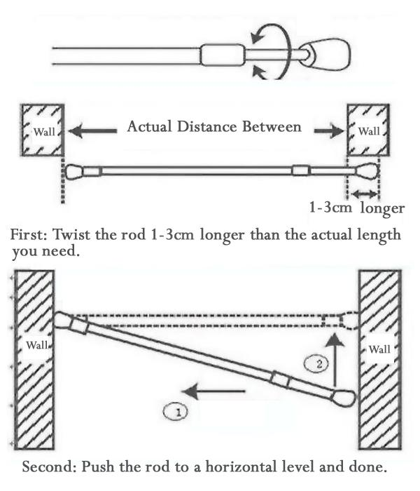 how to open a spring tension rod