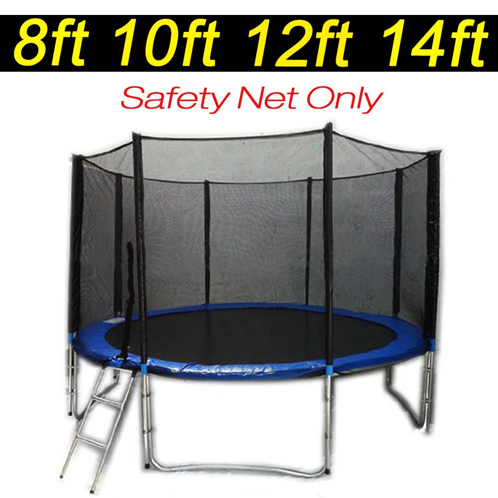 Trampoline Safety Net Replacement: 8 10 12 14 FT Universel Replacement Trampoline Safety Net