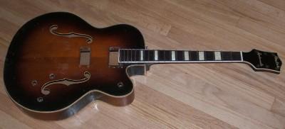 vintage 1953 gretsch country club synchromatic guitar ez project parts rare l k ebay. Black Bedroom Furniture Sets. Home Design Ideas