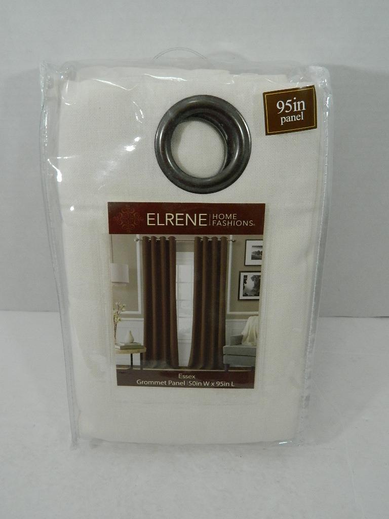 "Elrene Essex Grommet Linen 50"" x 95"" Panel Bedding"