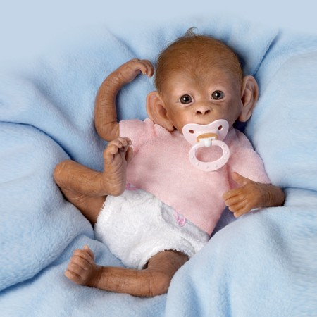 Coco So Truly Real Baby Monkey Doll By Ashton Drake Ebay