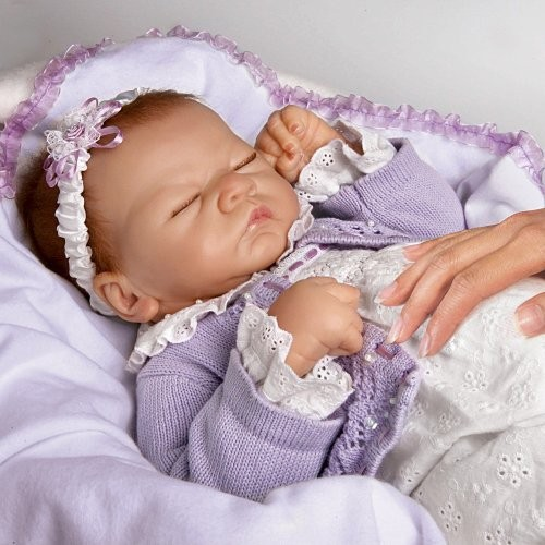 Ashton Drake Sleeping Beauty Doll: Ashton Drake Linda Webb Lifelike Baby Girl Doll