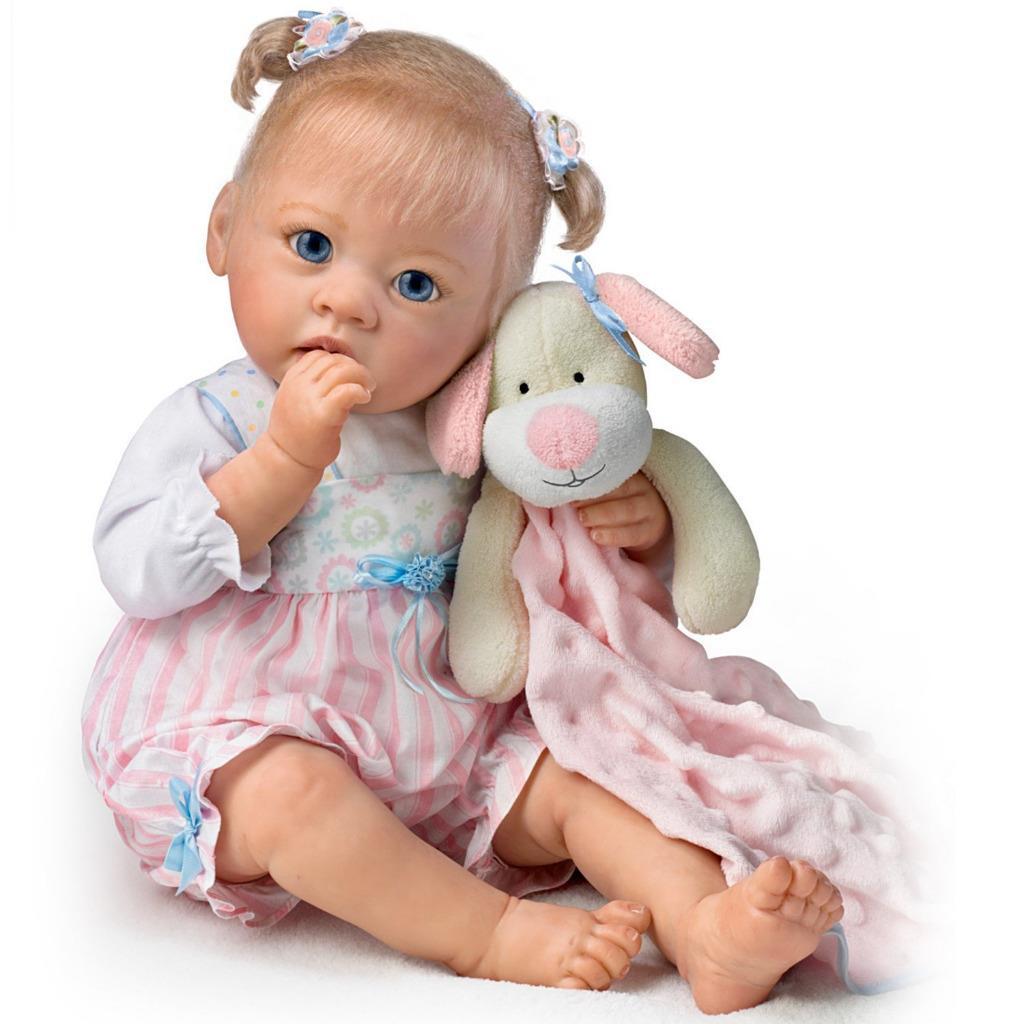 Ashton Drake Sleepytime Emma Baby Gril Doll By Linda