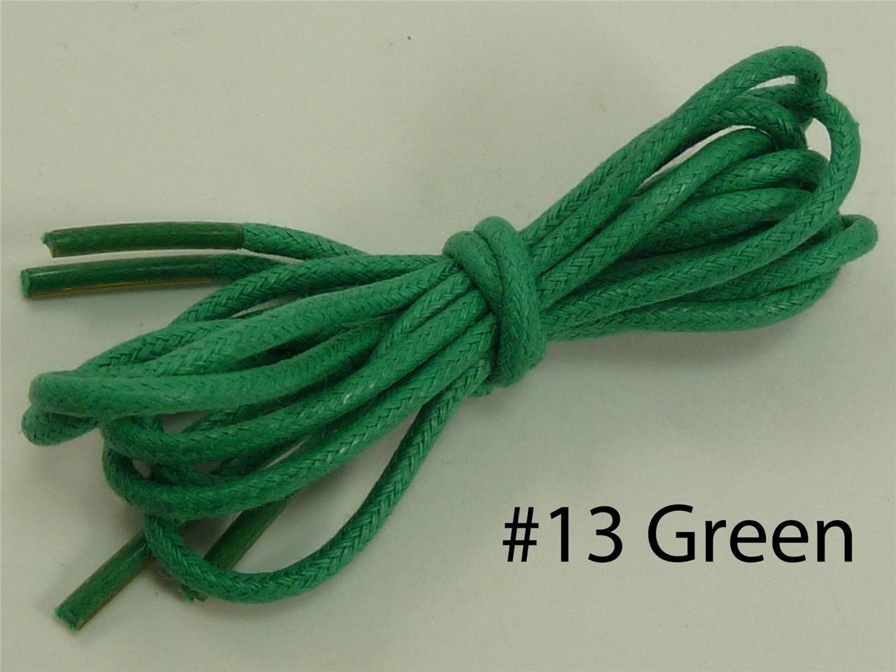 Colored Waxed Shoe Laces