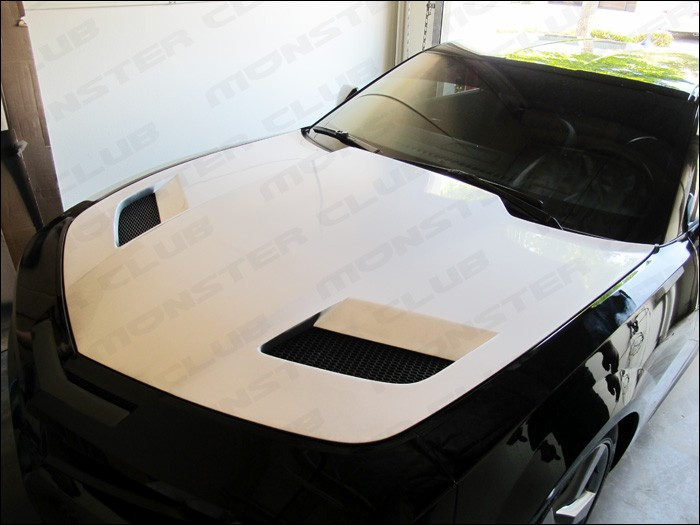 2010 UP Chevy Camaro Ram Air Shark Fiberglass Hood