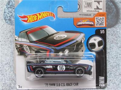 hot wheels 2016 190 250 1973 bmw 3 0 csl voiture de course bo tier noir n fonte ebay. Black Bedroom Furniture Sets. Home Design Ideas