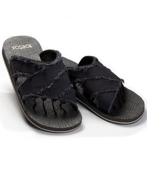 700a29df63ac29 ToeSox Five Toe Sandals MEN S Bohemian BLACK Toe Separating Exercise Yoga