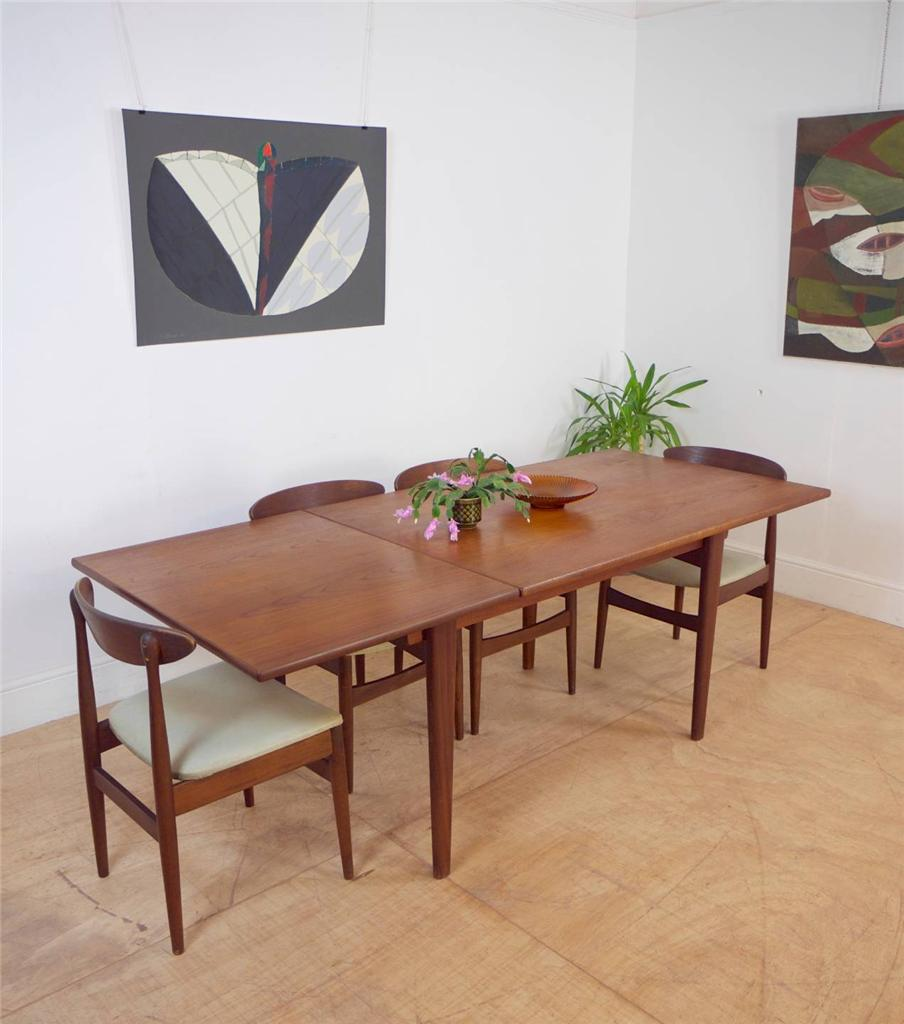 32 More Stunning Scandinavian Dining Rooms: Stunning Large Vintage Danish Extending Solid Teak Mid
