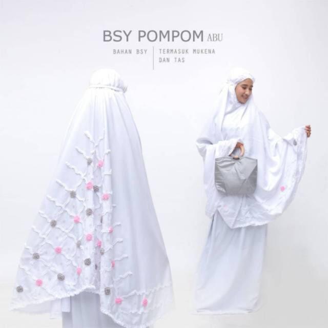 Women-Prayer-Salah-Clothes-Mukena-Khimar-Long-Hijab-Set-Skirt-amp-Hand-Bag-Pompom