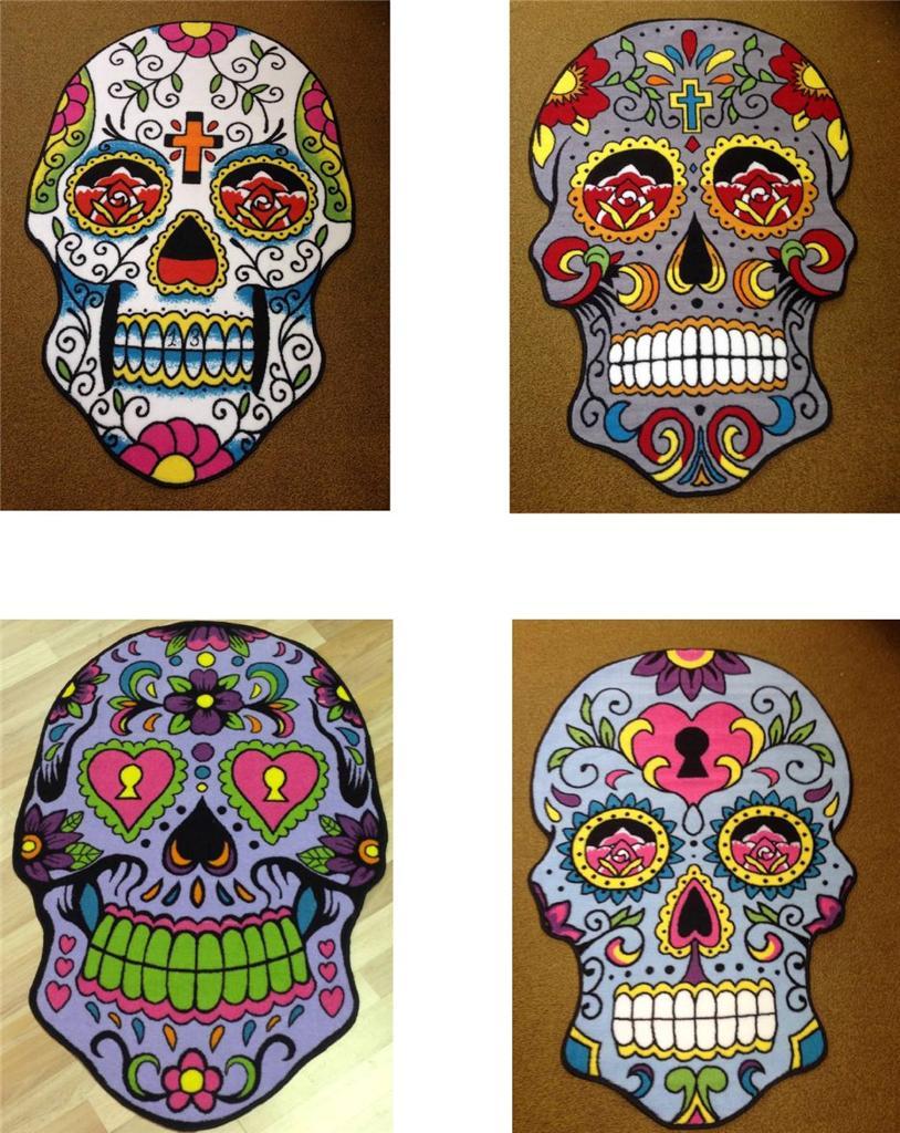 New Sugar Skull Rugs Tattoo Art Day Of The Dead