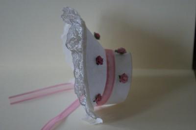 3d keepsake easter baby bonnet box card template cd ebay for Easter bonnets templates