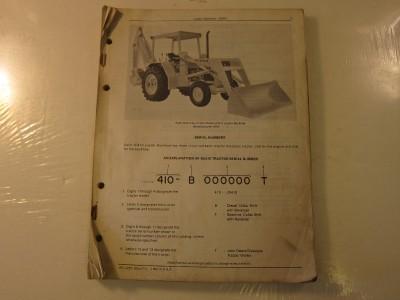 1971 John Deere JD410 Loader Backhoe Tractor Parts Catalog Lots More Listed