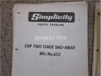 Simplicity snowbuster 828 manual