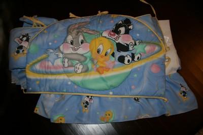 Baby Looney Tunes 3 Piece Crib Bedding Set Ebay