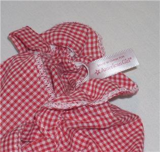 American Girl Kirsten Red Meet Sun Bonnet~Sunbonnet~Hat~Cap~AG tag~Ships Free