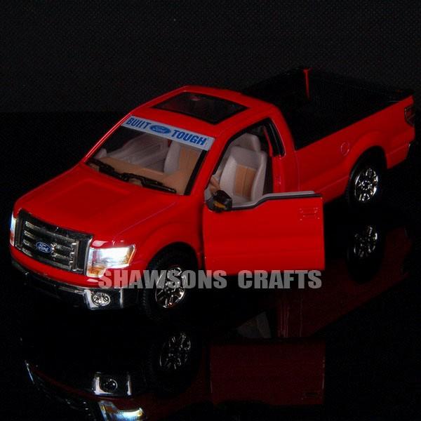 Diecast 1 32 Sound Light Pull Back Ford F150 Raptor Model Car Replica
