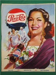 Tin Sign Vintage Pepsi Cola Say Pepsi Please With Pin Up Girl