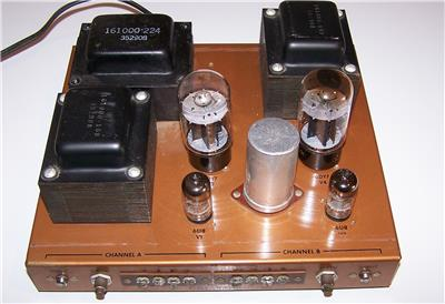 vintage stromberg carlson asp 422 20 watt stereo tube amp amplifier ebay. Black Bedroom Furniture Sets. Home Design Ideas