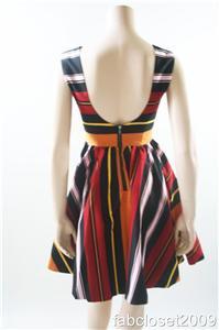 New Auth Alice Olivia Fila Flare Box Pleat Dress 698 Ebay