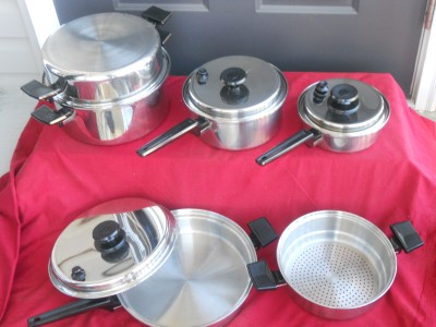 Royal Prestige Waterless Stainless Cookware Set 7 Ply Pots
