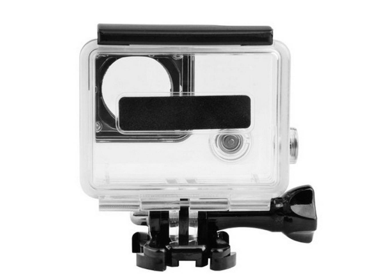 protective skeleton housing case open side with lens for gopro hero 4 3 camera ebay. Black Bedroom Furniture Sets. Home Design Ideas