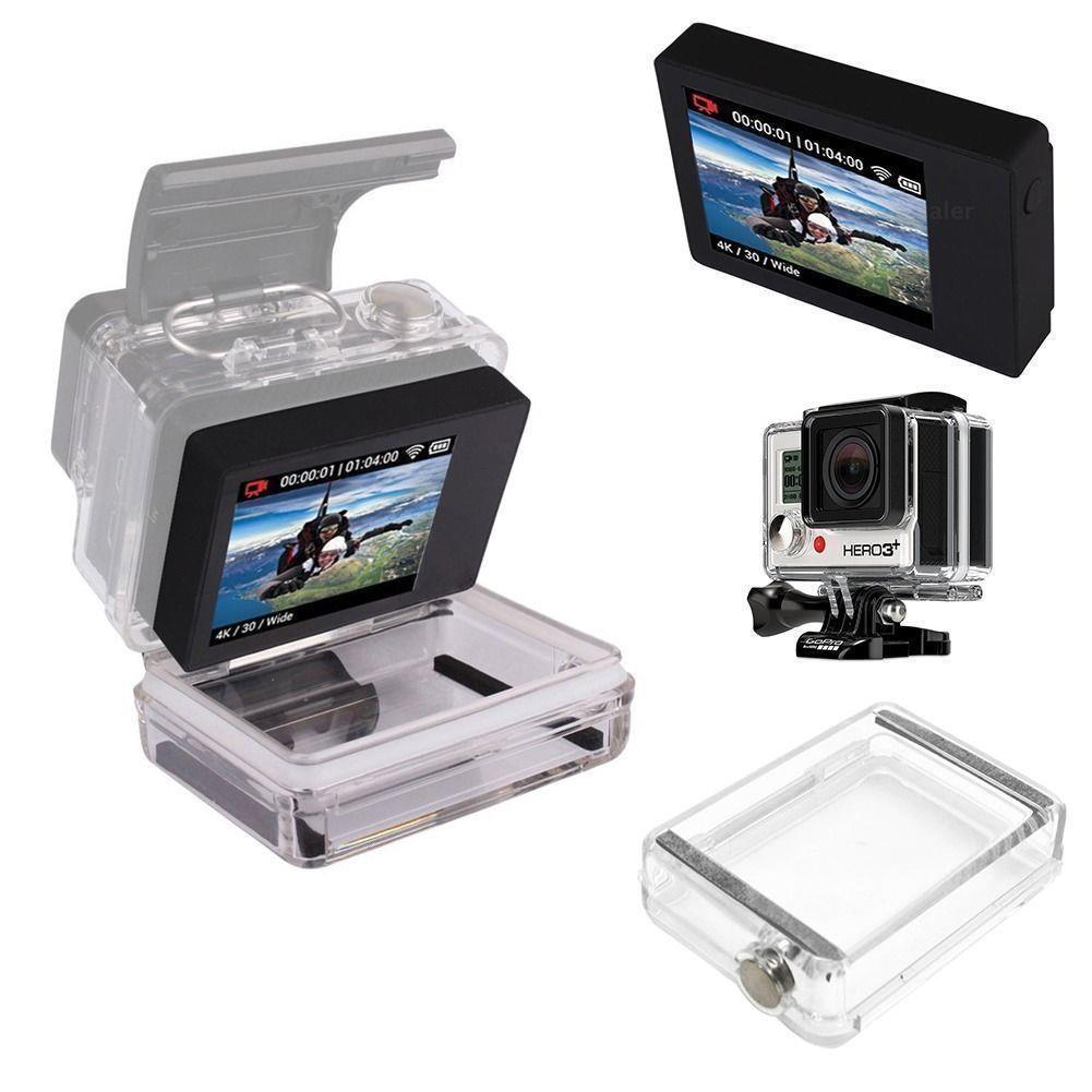 lcd bacpac display viewer rear screen case waterproof case f gopro hd hero 4 3 3. Black Bedroom Furniture Sets. Home Design Ideas