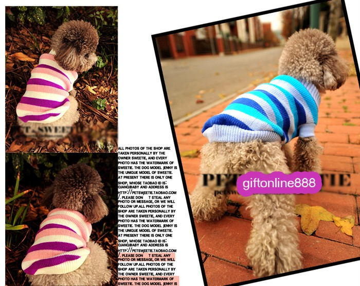 Pet Dog Puppy Winter Autumn Warm Sweater Costume Clothes Coats Jacket