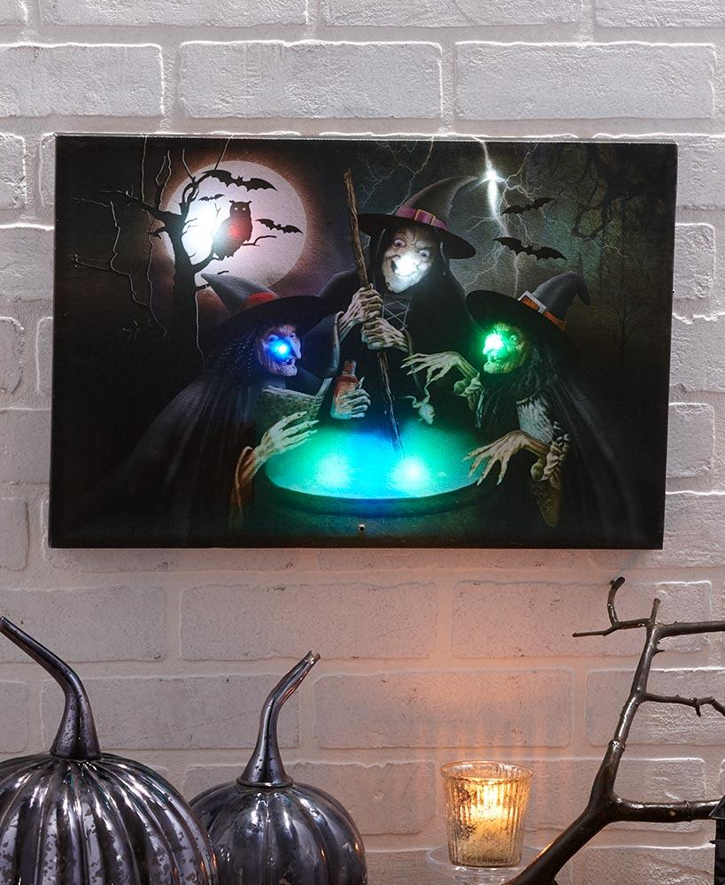 light and sound creepy canvas wall art halloween