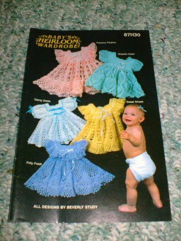 Annie S Attic Crochet Baby S Heirloom Wardrobe Pat Book Ebay