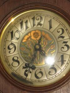 Art Nouveau Open Well Bavaria Oak Tall Case Clock