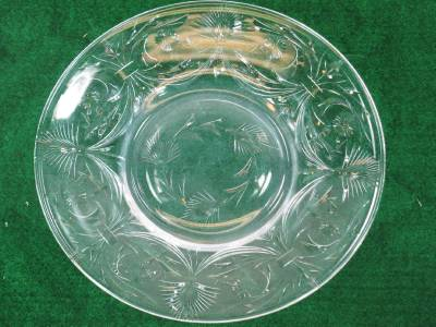 Antique Libbey Hand Cut Glass Crystal 9 Quot Plates Set Of 12