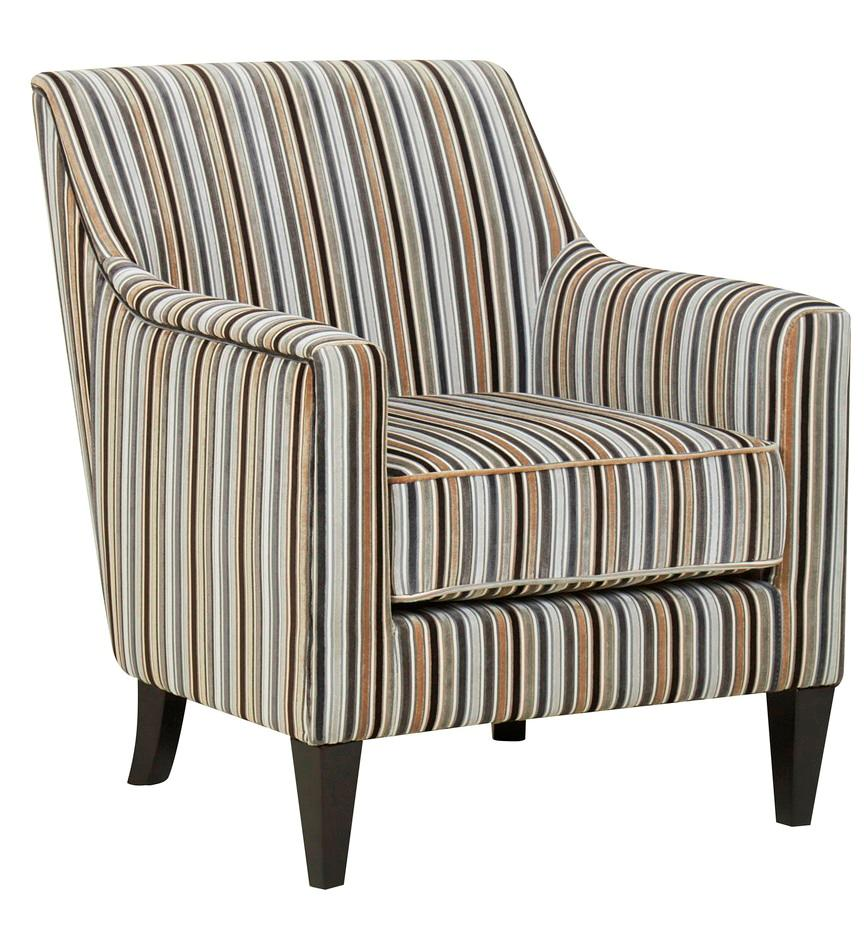 HENLEY - MULTI-STRIPED CANDY STYLE CHAIR / FABRIC ARMCHAIR ...