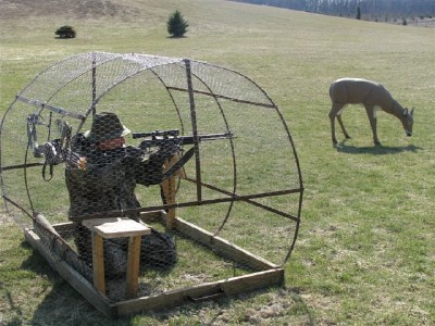 Round Bale Hunting Blind Two Man Real Straw Ebay