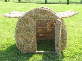 Goose Round Bale Hunting Blind Two Man Real Straw Ebay