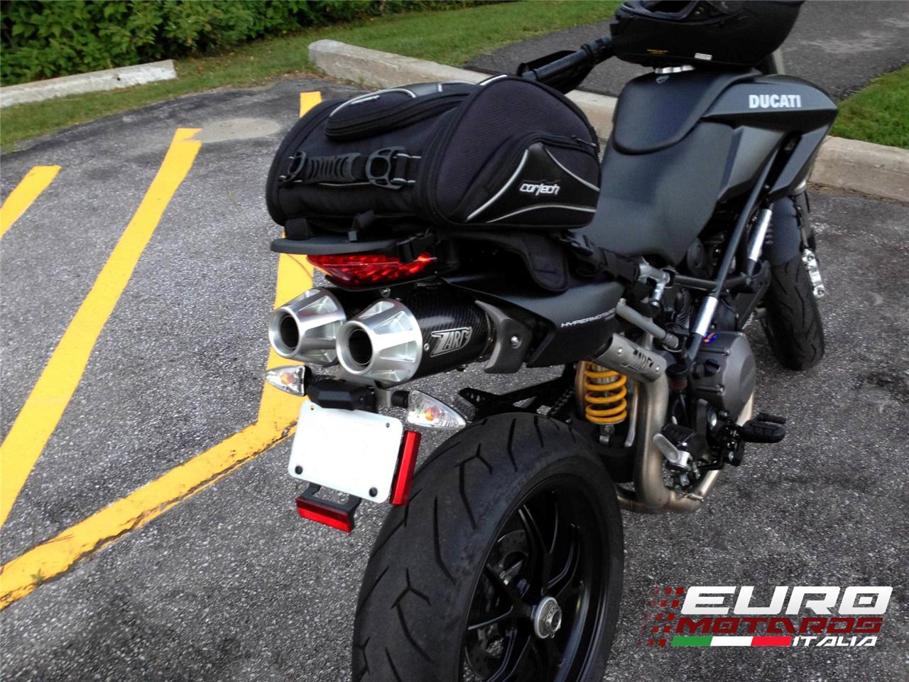 ducati hypermotard 796 1100 evo zard exhaust top gun carbon silencers mufflers ebay. Black Bedroom Furniture Sets. Home Design Ideas