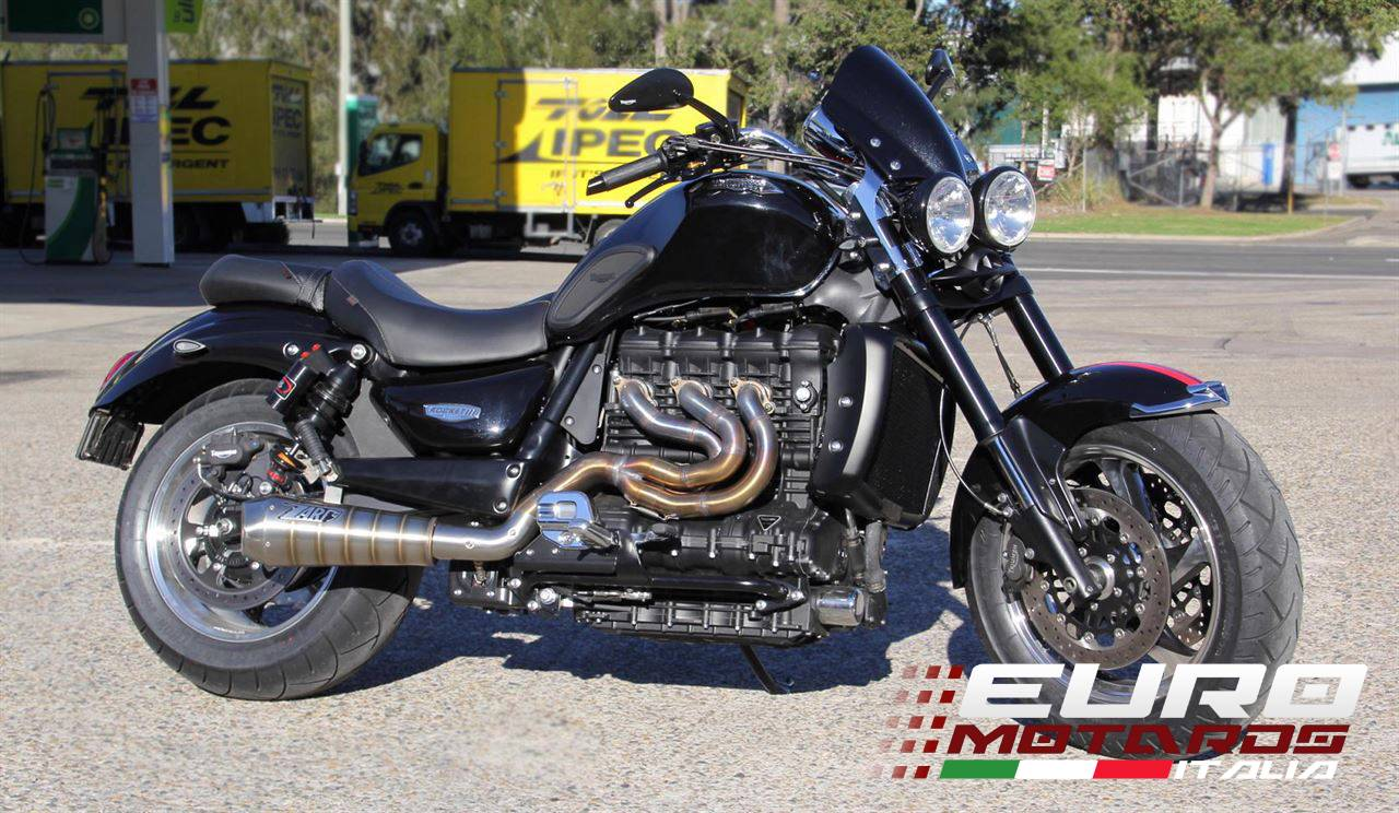 triumph rocket iii 2005 2012 zard exhaust 3in1 full system snake welding 17kg ebay. Black Bedroom Furniture Sets. Home Design Ideas