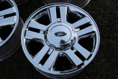 "Ford F150 Lug Pattern >> 18"" FORD F150 FACTORY OEM CHROME CLAD WHEELS RIMS ..."