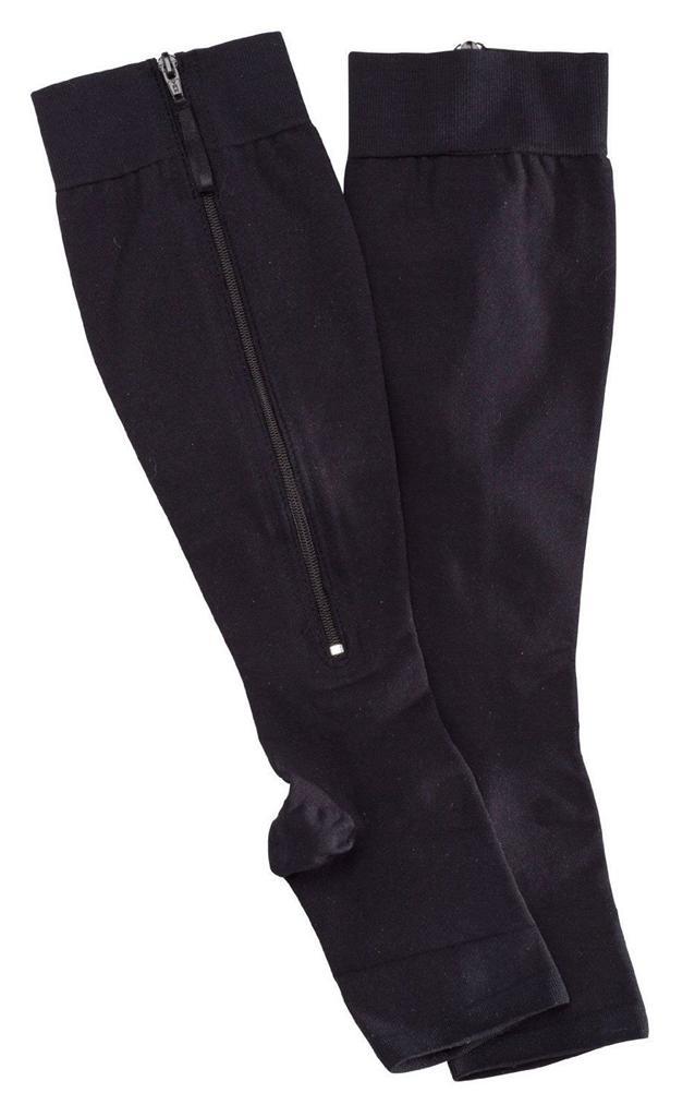 20 30 Mmhg Medical Compression Socks Open Toe Zippered