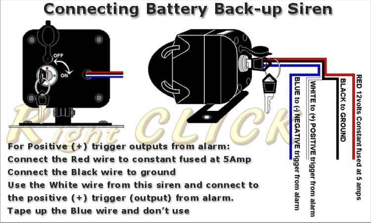 siren 1tone for car alarm battery backup 12v sir1tbb01 ebay. Black Bedroom Furniture Sets. Home Design Ideas
