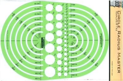 Circle Radius Master Berol Rapidesign Template R-142