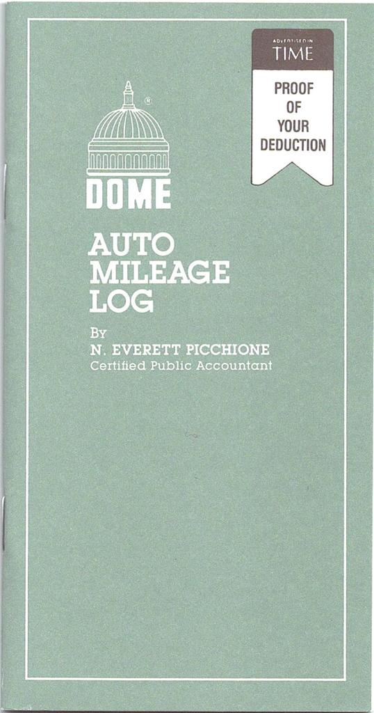 dome auto mileage log and expense record book 750 3 1 2 x 6 1 2
